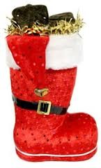 Santa's Large Chocolate Coal Candy Filled Boot