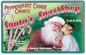 Santa SweetShop Nostalgic Tin Sign (SOLD OUT)