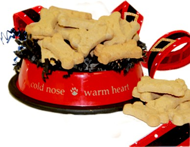 Santa Paws Dog Bowl Biscuit Gift  - Small