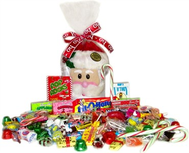 Santa Retro Candy Sack
