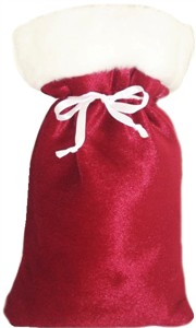 Six Drawstring Santa Sacks