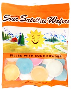 Satellite Wafers Sour Candy 1.23oz. Bag