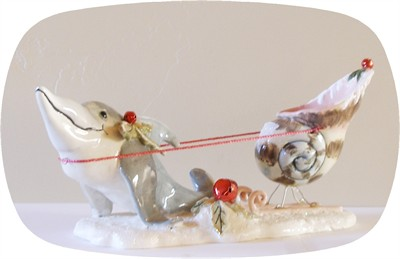 Santa's Try Out's Dolphin Tealight Holder (Sold Out)