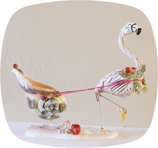 Santa's Try Out's Flamingo Tealight Holder (Sold Out)