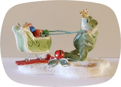 Santa's Try Out's Frog Tealight Holder (Discontinued)