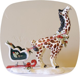 Santa's Try Outs Giraffe Tea Light Holder (sold out)