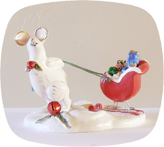 Santa's Try Out's Mouse Tealight Holder (Sold Out)