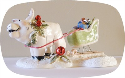 Santa's Try Out's Pig Tealight Holder (SOLD OUT)