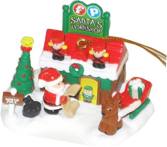 Santa's Workshop Christmas Tree Ornament (Sold Out)