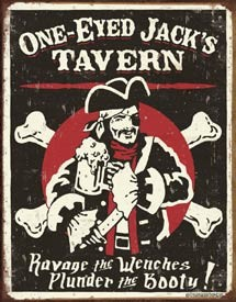 Schoenberg - One Eyed Jacks Pirate Tin Sign (Sold Out)