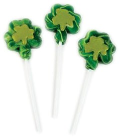 Shamrock Shaped Swirl Pops 12ct.