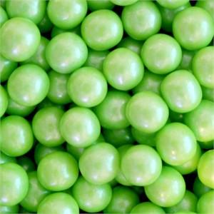 Shimmer Gumballs 1/2-inch - Lime Green 5LB