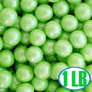 Shimmer Gumballs 1/2-inch - Lime Green 1LB