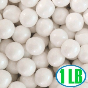 Shimmer Gumballs 1/2-inch - White 1LB (sold out)