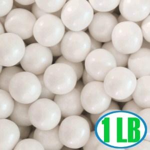 Shimmer Gumballs 1/2-inch - White 1LB