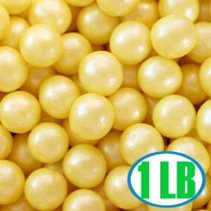 Shimmer Gumballs 1/2-inch - Yellow 1LB