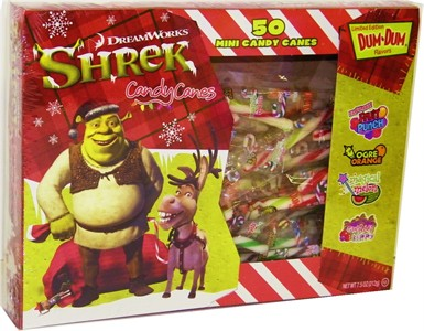 Shrek Mini Candy Canes 50ct. (DISCONTINUED)