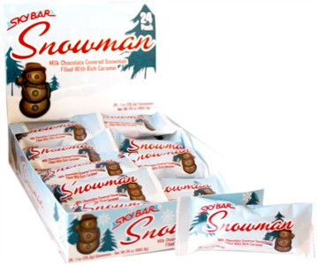 SkyBar Milk Chocolate Caramel Filled Snowman 24ct.