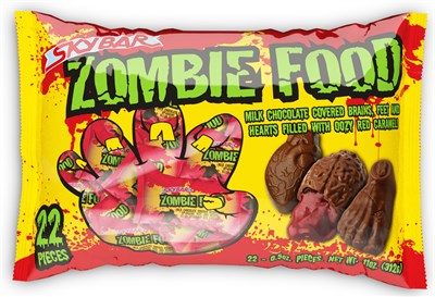 SkyBar Zombie Food Halloween Chocolates & Red Caramel 22ct.