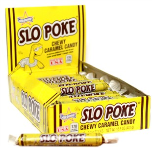 Slo Poke Chewy Caramel Candy Bite Size 48ct. (sold out)