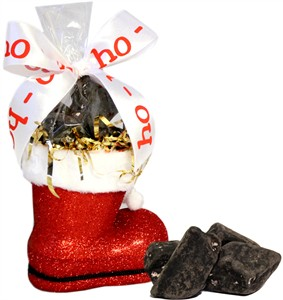 Chocolate Coal Candy Filled Santa Boot (sold out)