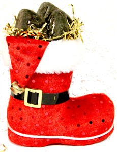 Santa's Small Chocolate Coal Candy Filled Boot (SOLD OUT)