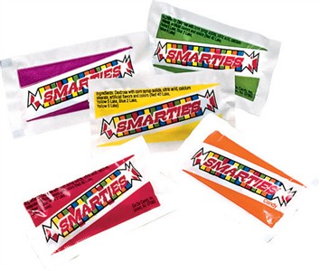 Smarties Mini Candy Pouches 3LB