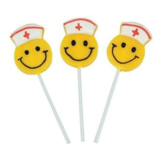 Smiley Face Nurse Lollipops 12ct