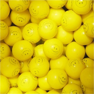 Smiley Dubble Bubble Gumballs 1 inch 5lb (DISCONTINUED)