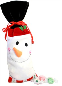 Snowman Goodie Bag of Christmas Salt Water Taffy