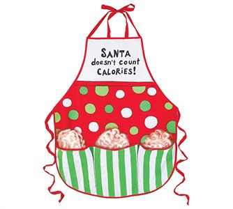 Santa Candy Cane Holiday Apron Gift Set (DISCONTINUED)