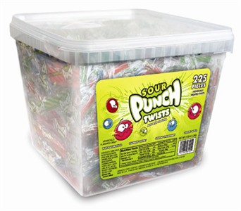 Sour Punch Mini Twists 225ct Tub