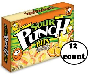 Sour Punch Bits Theater Size - Tangerine Lemonade 12ct. (sold out)