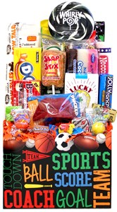 Sports Retro Candy Gift Basket
