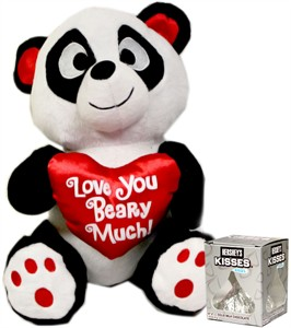 Love you Beary Much Plush Panda Bear with Hershey's Kiss (DISCONTINUED)