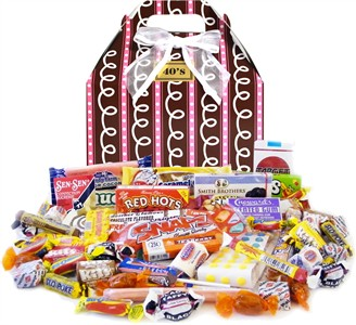 1940's Sprinkled Pink Retro Candy Gift Box
