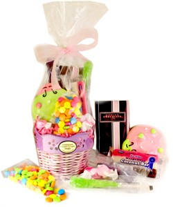 Spring Lavendar Flower Candy Basket (DISCONTINUED)