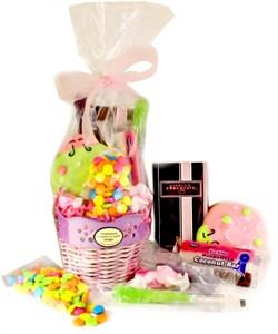Spring Lavendar Flower Candy Basket (DISCONTINUED)