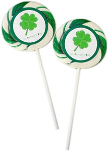 st patricks day shamrock whirly pop sucker