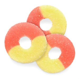 Gummy Rings - Strawberry Banana 1LB