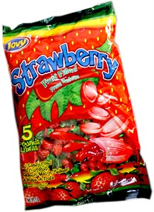 Jovy Strawberry Fruit Filled Hard Candy 5lb (Sold Out)