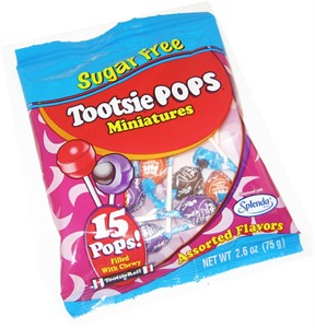Sugar Free Miniature Tootsie Pops 2.6oz. (discontinued)