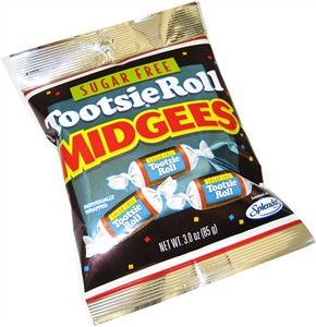 Sugar Free Tootsie Roll Midgees 3oz (discontinued)
