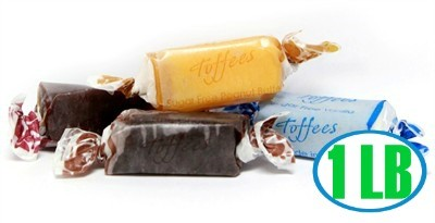 Assorted Chewy Toffees - Sugar Free - 1LB