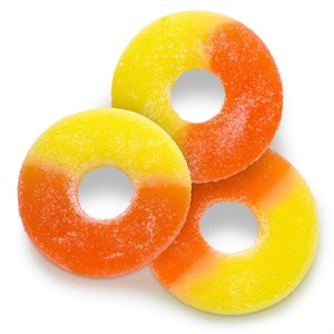 Gummy Rings - Sugar Free - Peach 1LB