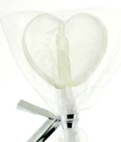 Sugar Free Clear Petite Heart Twinkle Pops 40ct.