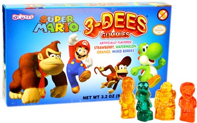 Super Mario 3-Dees Gummies Theater Box