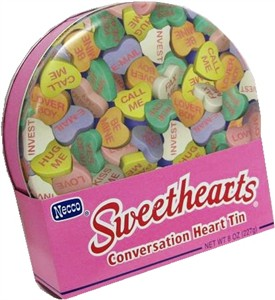 Sweethearts Conversation Hearts Round Tin (discontinued)