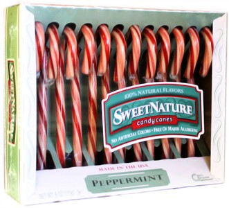 Sweet Nature Candy Canes - Peppermint 12ct.