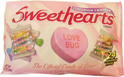Sweethearts Conversation Hearts Classroom Exchange 24ct (discontinued)
